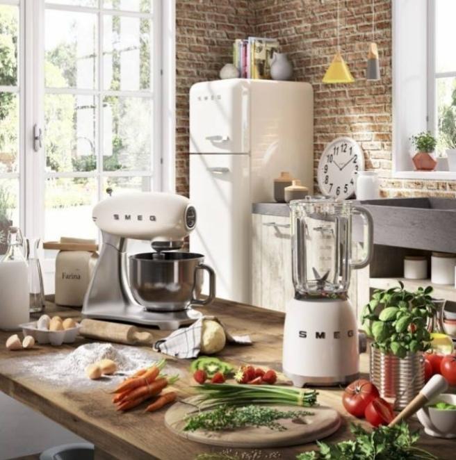 Letná kuchyňa. Inšpirácie vs. realita - Inšpirácia: Chladničku podobnú tejto.