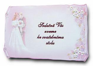 pozvánka ke svatebnímu stolu