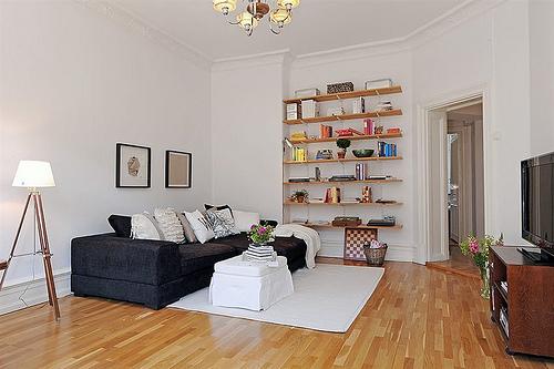 Obývák... inspirace - a přes stěnu knihovnu!