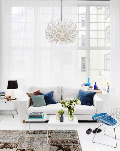 Obývák... inspirace - tak TOHLE je moje láska!.. barvy, lustr aj aj aj!