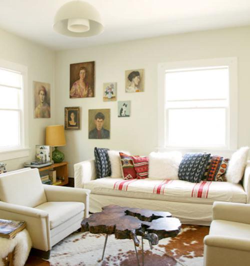 Obývák... inspirace - obrazová stěna? proč ne?!