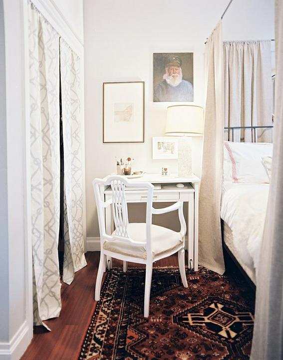 Ložnice... inspirace - malý pracovní koutek... miloučké