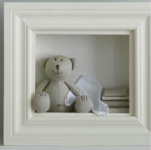 Dětský pokoj... - medvěd v rámu...rozkošné!