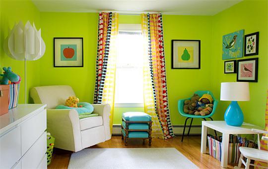 Dětský pokoj... - a trocha zelené