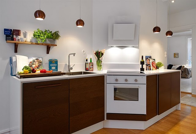 Kuchyně a jídelna - inspirace - asymetrická a moc hezká, ale my budem mít bílou