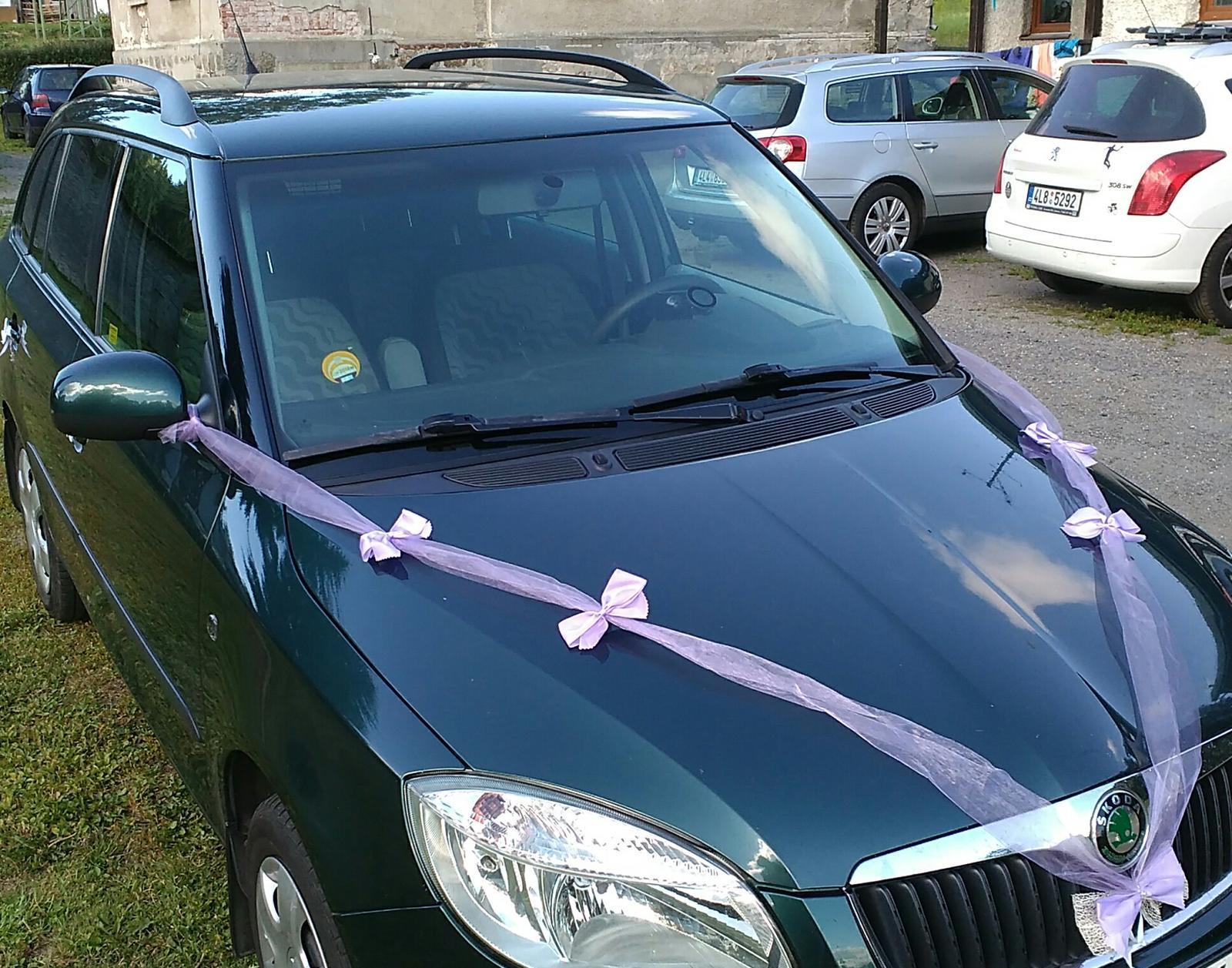 Svatební dekorace na auta - Obrázek č. 2
