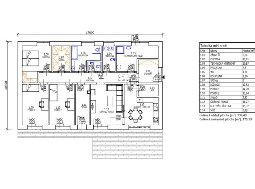 Studie domu - Obrázek č. 2