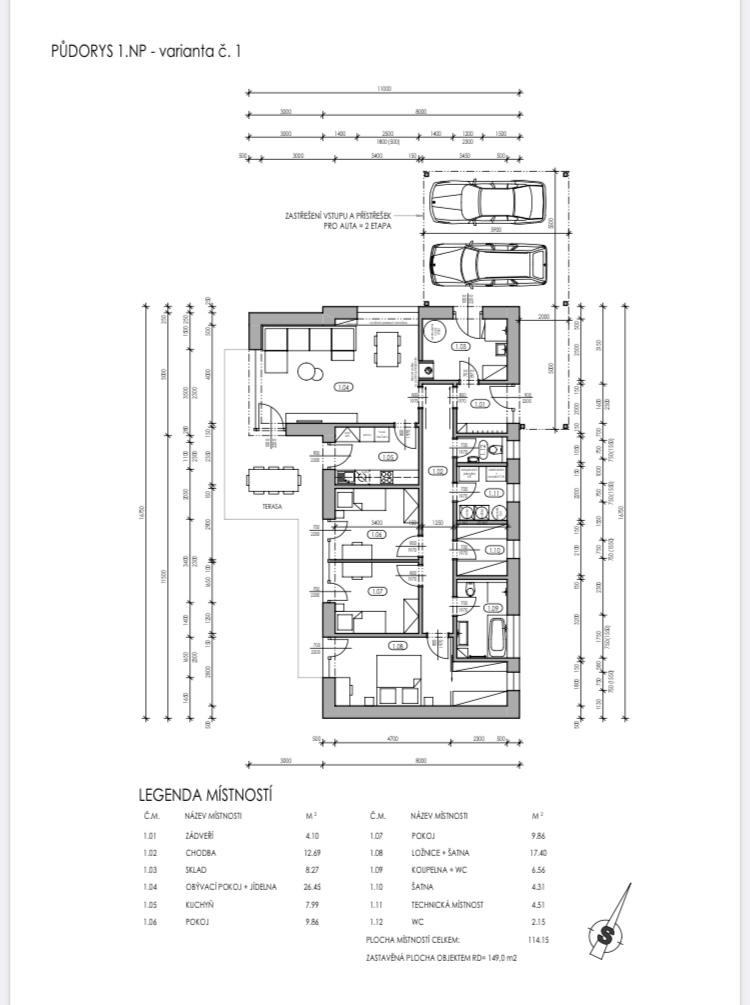 Studie domu - Obrázek č. 3