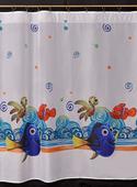 Záclona Nemo a Dory, 160 cm,