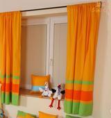 Závesy do detskej izby Farby - oranžové, sada 2 ks,
