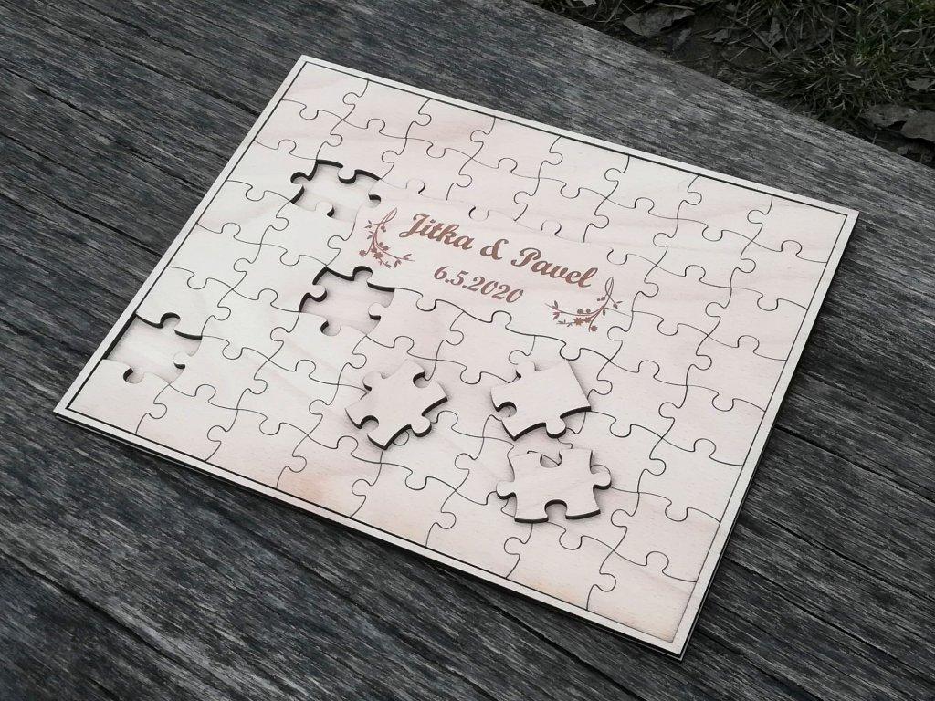 Svatební přípravy - co se nám líbí nebo co už máme zařízené :) - Svatební puzzle - na podpisy