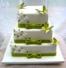 Tento dortík už máme obědnaný jen růžovo-bíly a s holubičkami a růžičky..mňam..