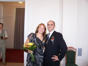 naši svědci,moje sestřička Martinka a její manžel Pavel
