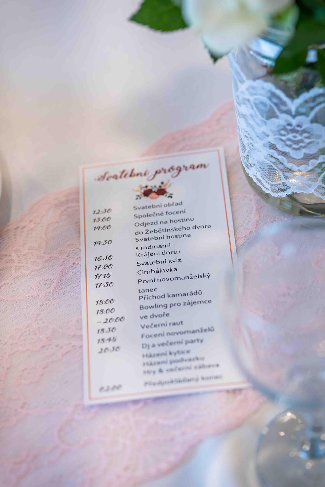 Alžběta                    a                    Štěpán - Program svatebnîho dne plánovaný :)