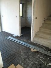 chodba připravena k betonování