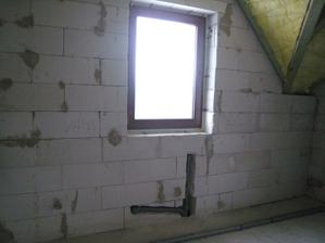 koupelna, pod oknem bude vana