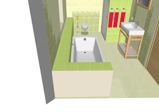 rovný bambus za záchodem vypadá asi líp