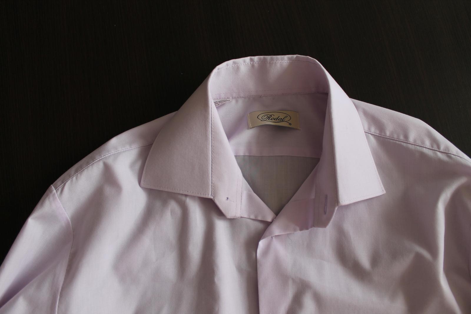 svetlofialová košeľa - Obrázok č. 2