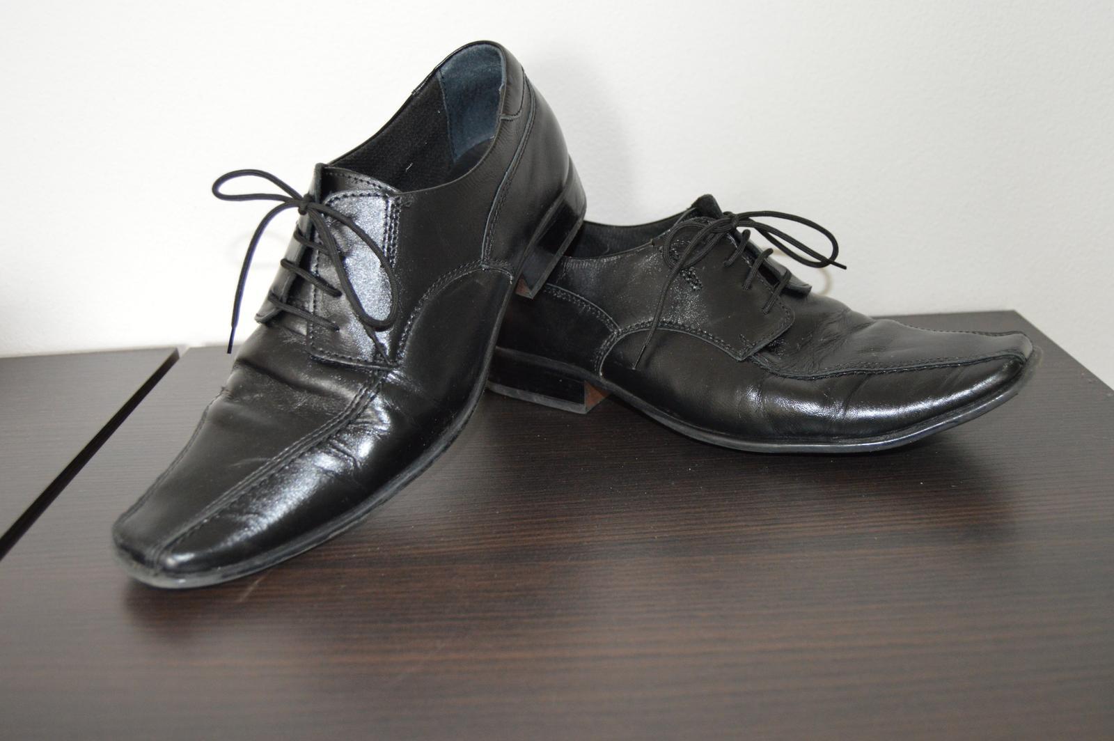 Spoločenské  kožené topánky - Obrázok č. 1