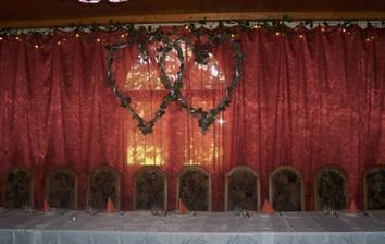 místo pro ženicha a nevěstu