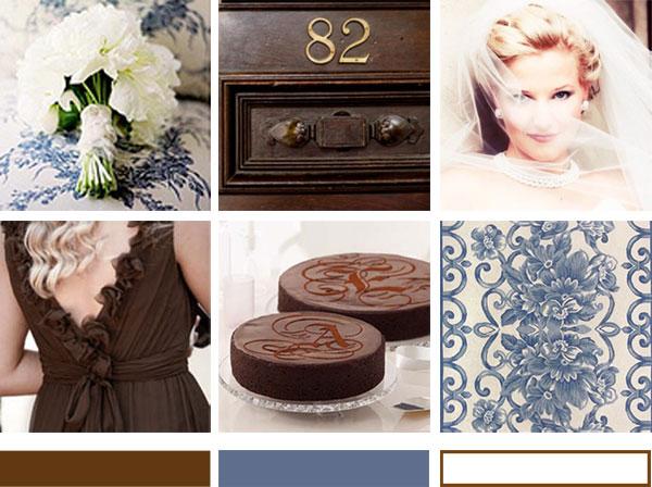 ♥ krajkovo-modro-hnědá pro I. - Obrázek č. 42