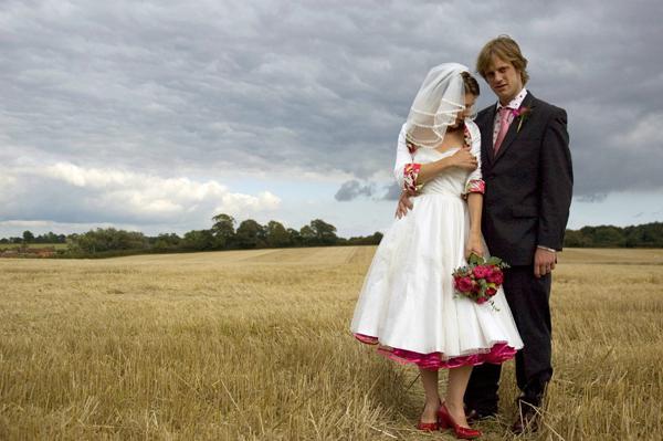 Naše malá puntíkovaná svatba - Taky bych chtěla, ať jde vidět spodnička, která bude s puntíky