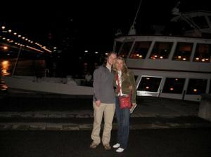 Vídeň, po plavbě na lodi... Romantika :-)