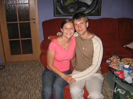 Sonka a Peťo - 7.7.2007 - Vráble - 2 mesiace po svadbe na svadobnej ceste na Morave