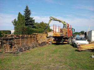 3.8.11 prevoz dreva na krov na stavbu