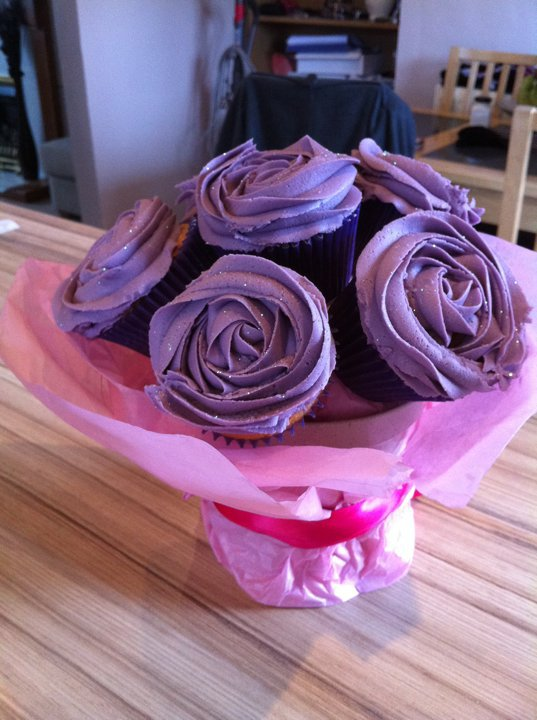 My Wedding bits and bobs - cupocake bouquets we are having, in our colours tho