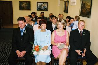 Rodiče nevěsty a sestra s přítelem