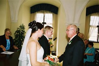 Blahopřání od tatínka ženicha