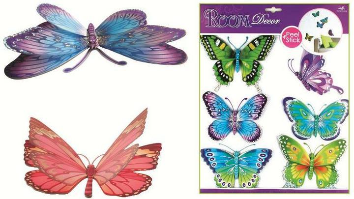 Líbí se nám... Všehochuť - 3D motýli