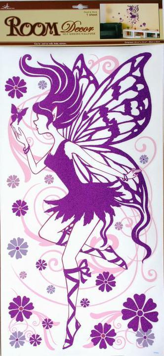 Líbí se nám... Všehochuť - víla a motýlci budou v dětském pokoji... Tím pádem ho budeme ladit jemně do fialkova...