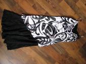 satenové šaty s čipkou, 36