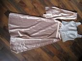 zlato biele satenové šaty, 36