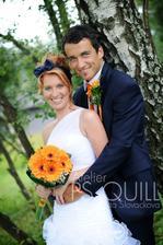 Tak se to povedlo Modrooranžová svatba jako na obrázku:-))