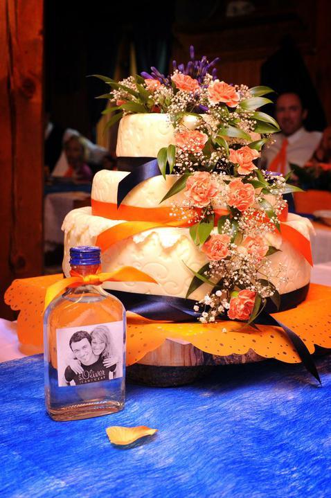 Přípravy zpětně:-) - svatební dort se slivovicí:-)