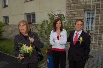 můj svědek s přítelkyní a moje maminka