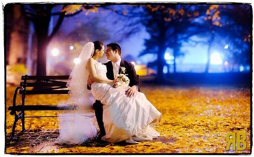 Budeme manželia :) - urobíme, večer v parku