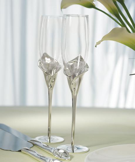 Svadobné poháre - kvet kala  - Obrázok č. 1