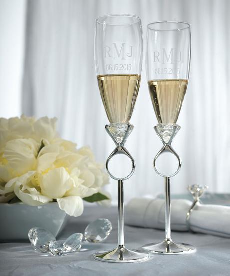 "Svadobné poháre ""prsteň""  - Obrázok č. 1"