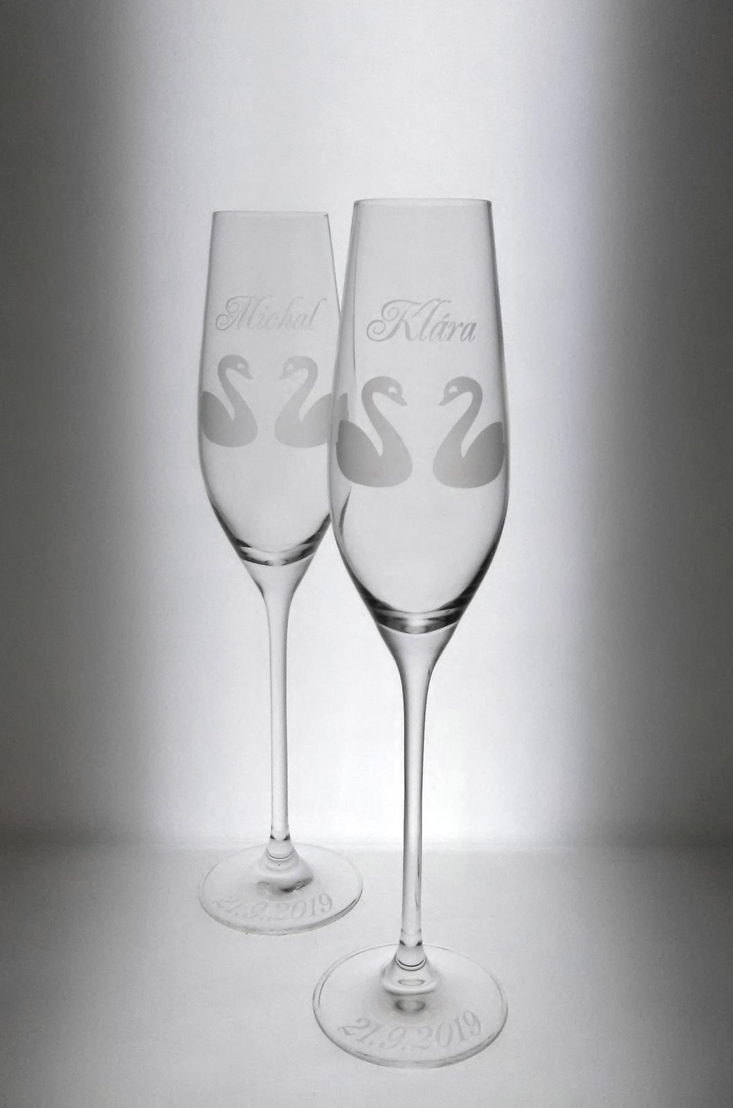 Svadobné poháre LABUTE - Obrázok č. 1
