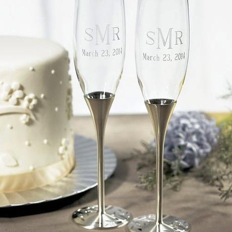 Strieborné svadobné poháre extra - Obrázok č. 1