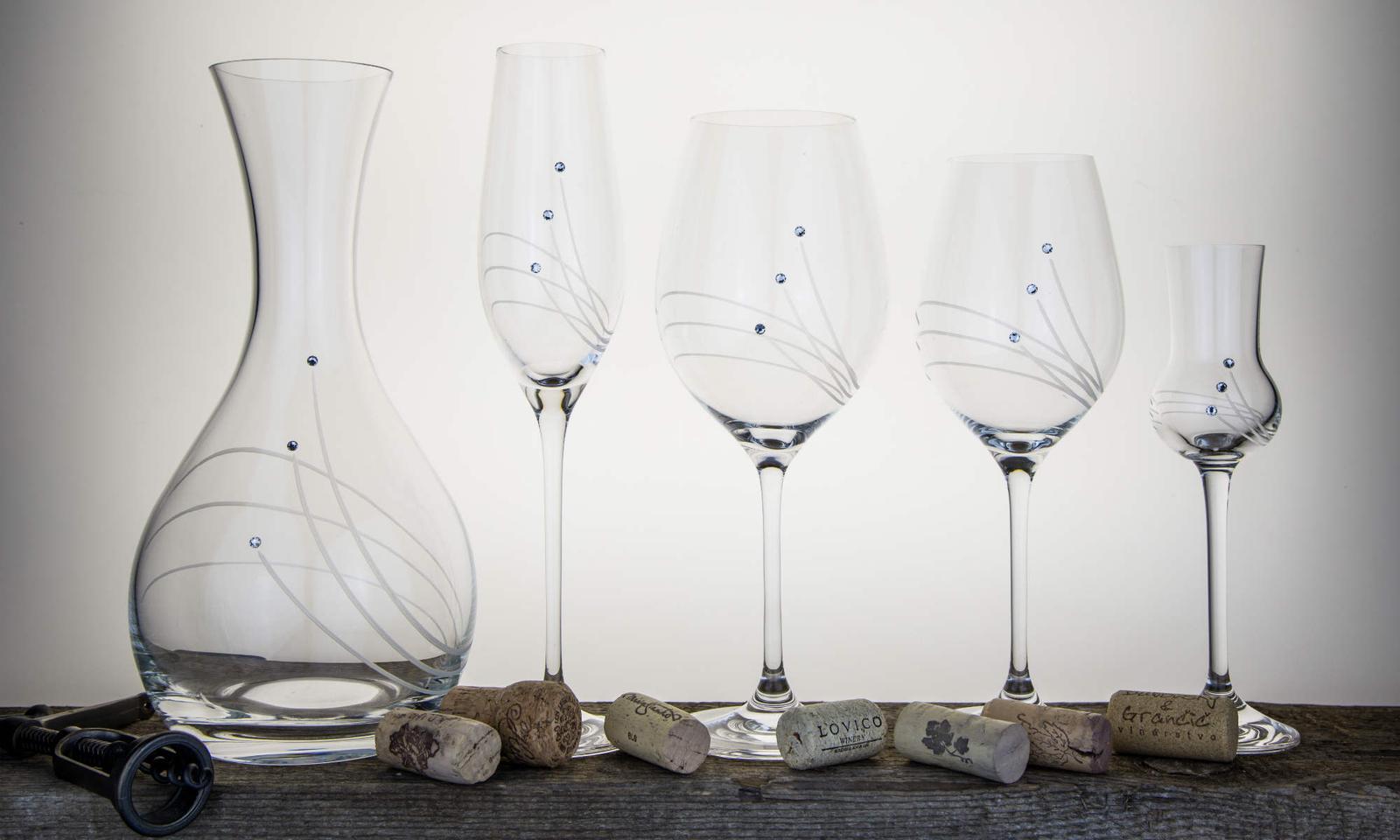 Lacné poháre so SWAROVSKI - Obrázok č. 1