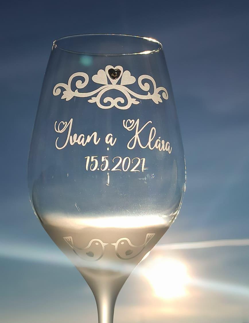 Gravírované svadobné poháre - Obrázok č. 1