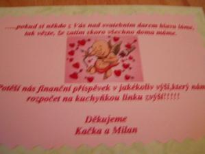 kartička ke svat.oznamku - ladí s košíčkem samovýroba