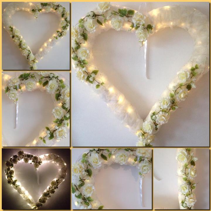 in8kadesign - Svadobné srdce. Dekorácia za svadobný stôl .