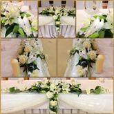 Výzdoba svadobného stola.