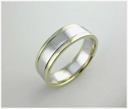 objednáno - Dámský a pánský prsten je stejný. Šíře prstenu je 6,1 mm